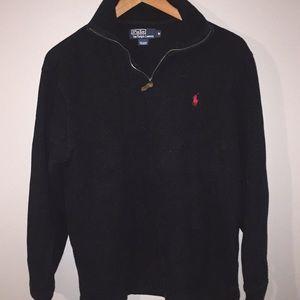 Black Polo Ralph Lauren Pullover Mens Medium